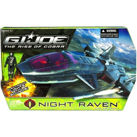 Gi Joe Movie 3.75 Echo Vehicle Night Raven with Air Viper ()
