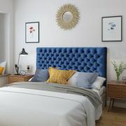 Noble House Ochoa Velvet Queen/ Full Headboard,Navy Blue