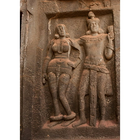 LAMINATED POSTER Caves Karla Caves Stone Carvings Buddhism India Poster Print 24 x 36 ()