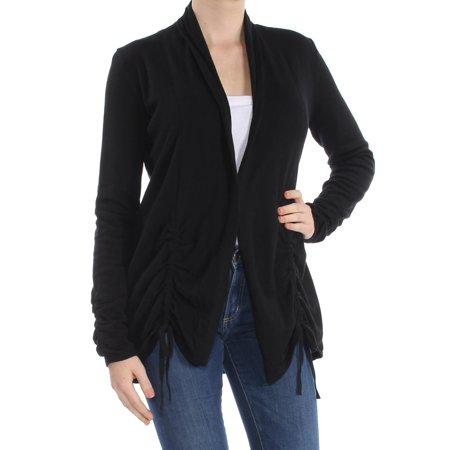 INC Womens Black Ruched Drawstring Cardiga Sweater  Size: M
