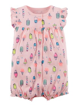 0f7c8f28a Product Image Carter's Baby Girls' Ice Cream Snap-Up Cotton Romper, ...