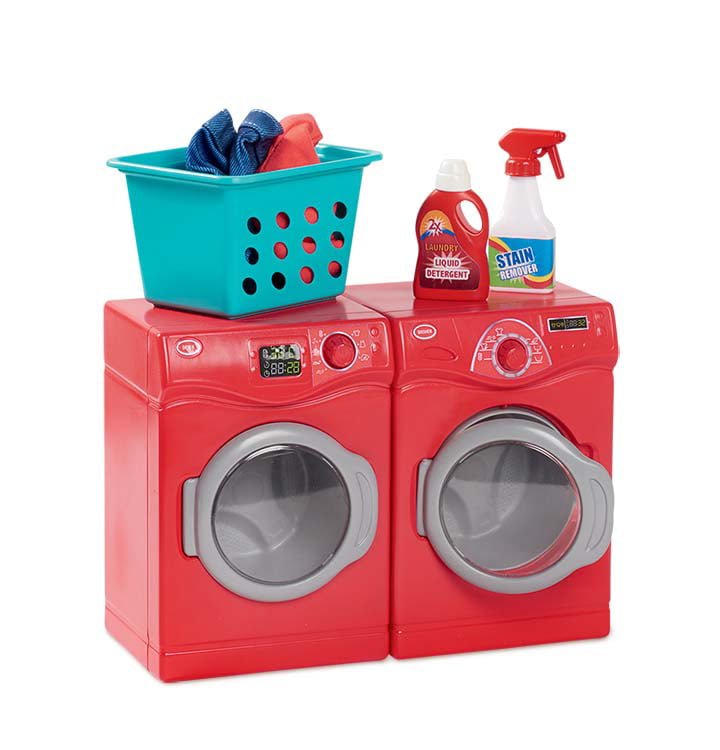 """6pc RED 18/"""" Doll WASHER DRYER Laundry Room Set for My Life as American Girl Boy"""
