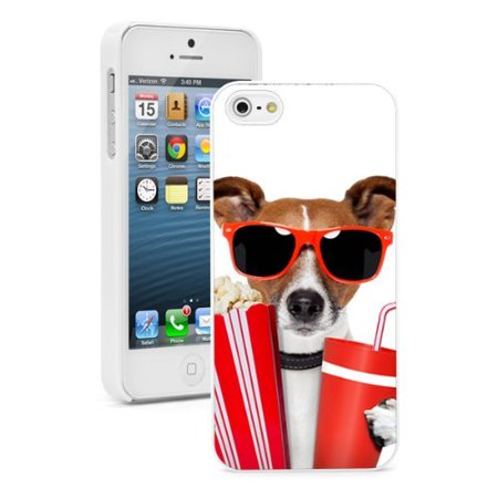 Cute Popcorn (Apple iPhone (6 Plus / 6s Plus) Hard Back Case Cover Cute Jack Russell Terrier Sunglasses with Popcorn)