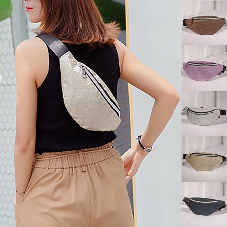 US Women Girls Waist Fanny Pack Belt Bag Chest Pouch Hip Bum Bag Purse Wallet