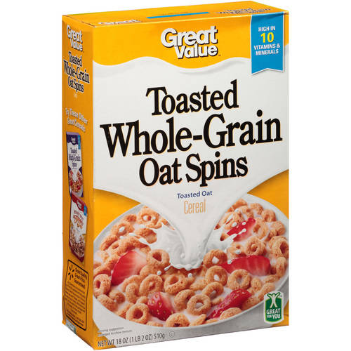Great Value Toasted Whole Grain Oat Cereal, 18 Oz
