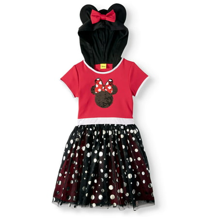 Minnie Mouse Flip Sequin Cosplay Tutu Dress With Hood (Little Girls & Big Girls) - Minnie Mouse First Birthday Dress