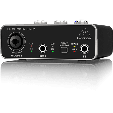Behringer UM2 Audiophile 2x2 USB Audio Interface w/ Mic (Behringer U Phoria Umc1820 Usb Audio Interface)