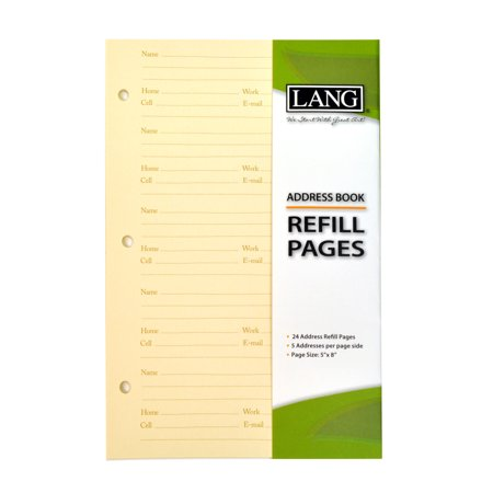 Address Refill - LANG ADDRESS BOOK REFILL PAGES ADDRESS BOOK - REFILL PAGES