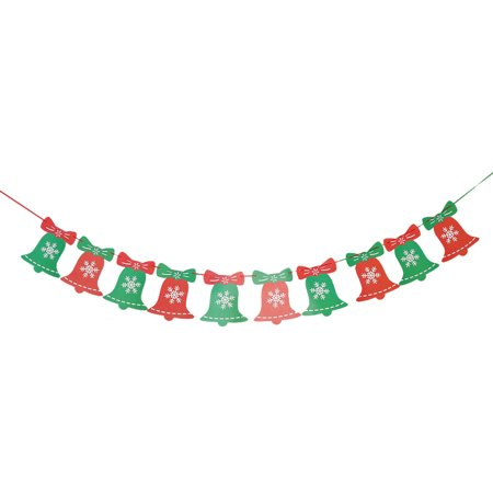 Christmas Day Paper Bell Shaped DIY Rope String Hanging Decor Photo Prop (Banner Bells)