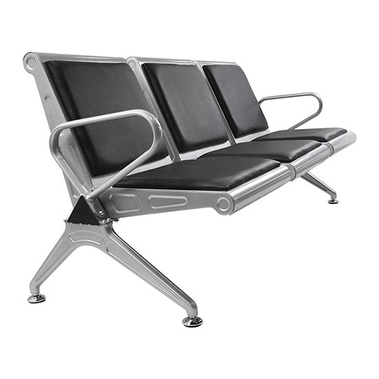 Heavy Duty Office Reception Area Airport Waiting Room Chair 3 Seat Bench  Cushion