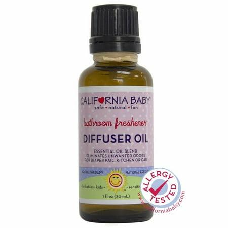 California Baby Bathroom Freshener Diffuser Oil, Citrus, 1 Oz