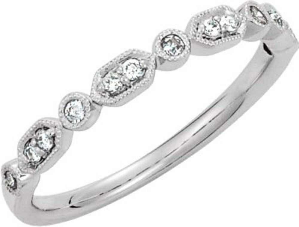 1 8 ct tw Diamond Ring in Platinum Size 6 by Bonyak Jewelry