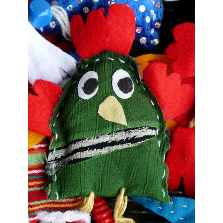Bird Puppets (Canvas Print Doll Toys Fabric Hand Puppet Bird Finger Puppet Stretched Canvas 10 x)