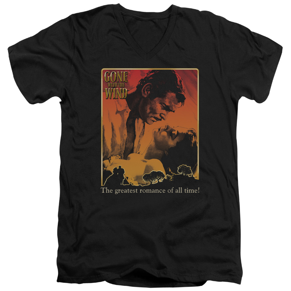 Gone With The Wind Greatest Romance Mens V-Neck Shirt