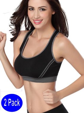 ad409d7c5b0 Product Image LELINTA Women s Sports Bras Removable Padded Low Support for  Workout Fitness Yoga Bra White   Black