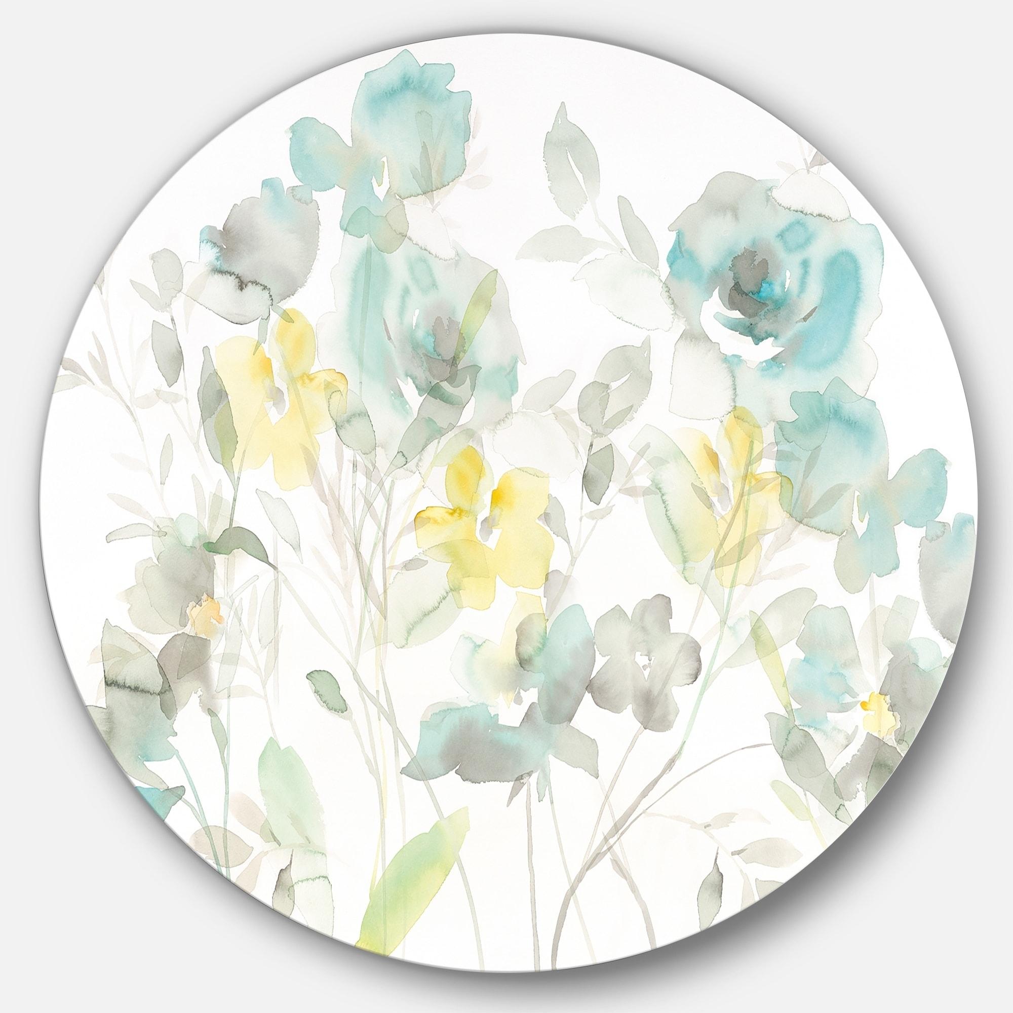Design Art Designart Aqua Rose Natural