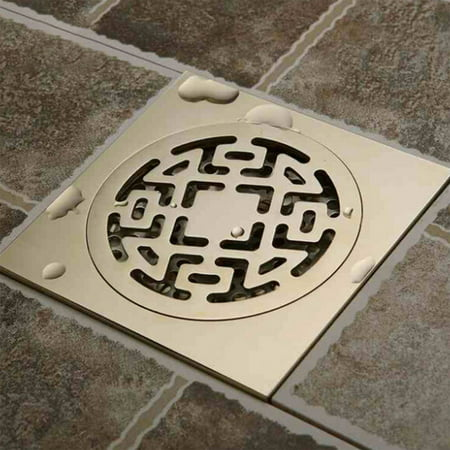 Modern Brass Shower Floor Drain Bathroom Tile Insert Floor Drainer Self Sealing Floor Drain Pattern single