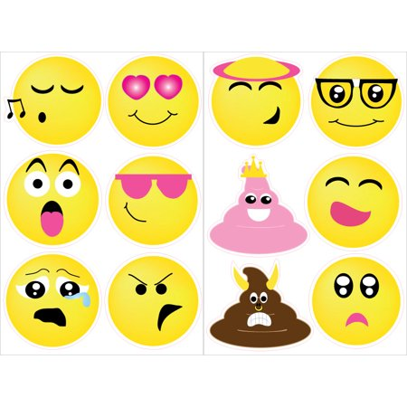 Emoji Wall Stickers Decals / Emoji Room Decor and Party - Party Wall Decorations