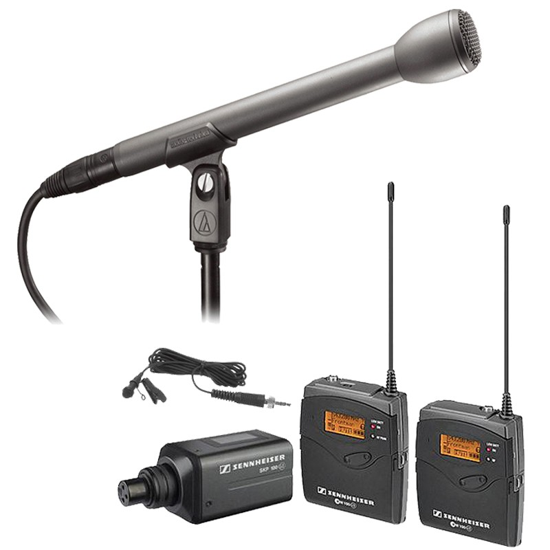 Sennheiser EW 100 ENG G3 Wireless Microphone Combo System (A) + AT8004L Mic *New by Sennheiser