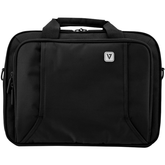 "V7 CCP16-BLK-9N Professional Frontloader, Black 16"" Laptop Briefcase"