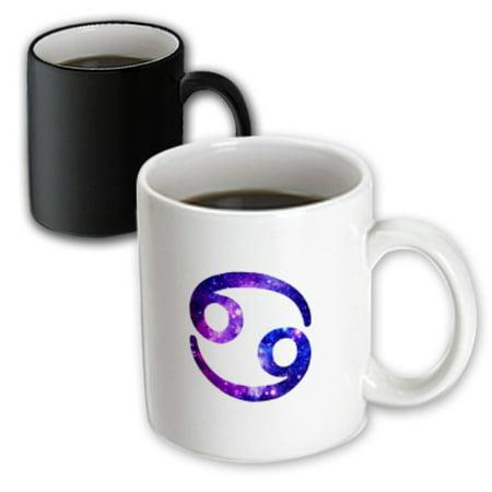 (3dRose Cancer star sign - crab zodiac glyph - astrological horoscope symbol - Magic Transforming Mug, 11-ounce)