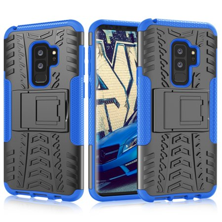 newest 78b34 c57e8 Galaxy S9 Plus Case, Samsung S9 Plus Kickstand, Galaxy S9+ Cover, Njjex  [Built-in Kickstand][Non-slip Design] Hybrid Full-body Rugged [Shock Proof]  ...