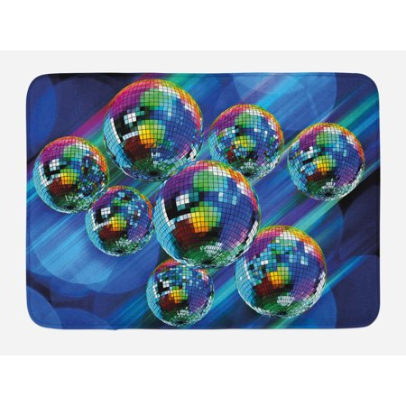 70s Party Bath Mat, Colorful and Funky Vibrant Disco Balls in Abstract Night Club Dancing Theme Art, Non-Slip Plush Mat Bathroom Kitchen Laundry Room Decor, 29.5 X 17.5 Inches, Multicolor, Ambesonne](Kitchen Theme Decor)
