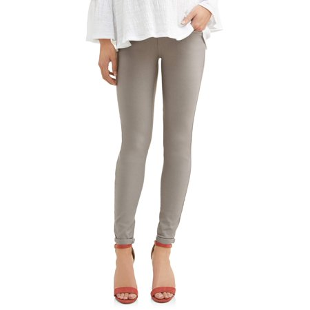 Maternity Overbelly Twill Boyfriend Pants - Available in Plus Sizes (Gray Nylon Twill)