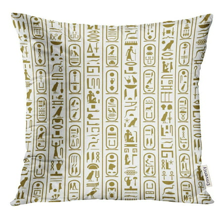 ARHOME Africa Ancient Egyptian Writing Ankh Antiquities Cartouche Culture Pillow Case 20x20 Inches Pillowcase