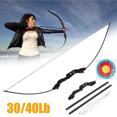 "51"" Hunting Take Down Straight Bow Right Hand Draw Weight 30/40 lbs Traditional Archery Bow Outdoor thumbnail"