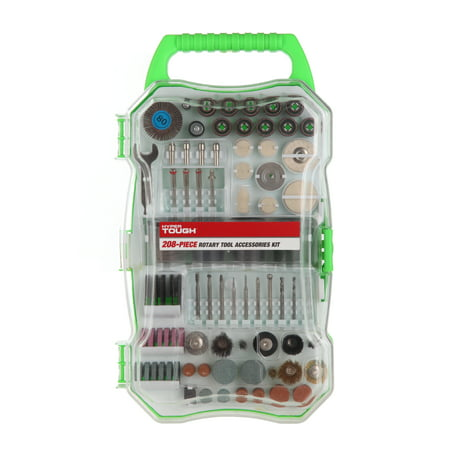 Hyper Tough 208 Piece Rotary Tool Accessory Kit with Storage Case