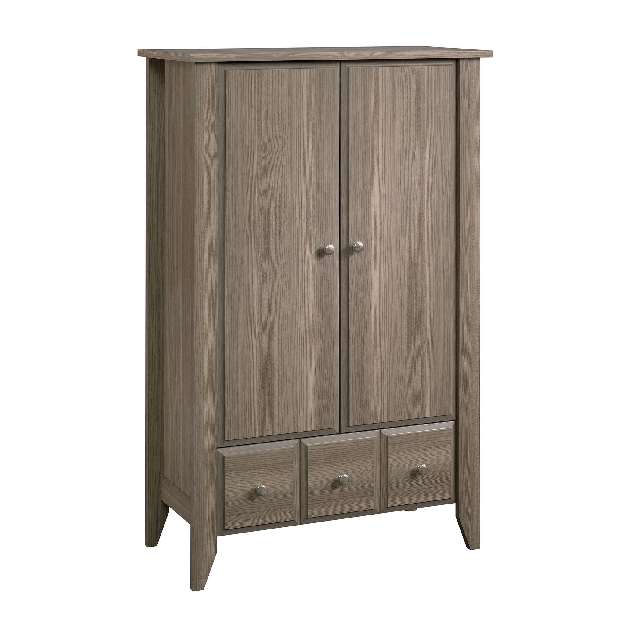 Superbe Sauder Shoal Creek Armoire, Diamond Ash Finish