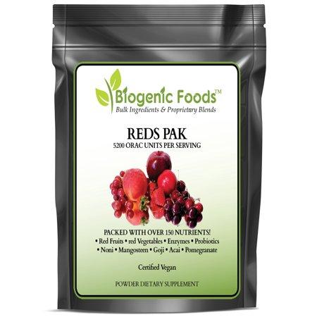 Reds Pak - Natural Super Fruit & Vegetable Blend w/Antioxidants & Phytonutrients ING: Organic Powder, 7 oz
