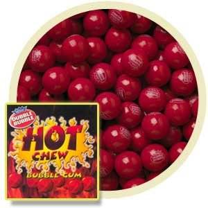 "Hot Chew Cinnamon Bubble Gum Balls 1 Lb (1"") Concord"