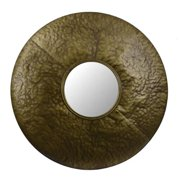 Decor Therapy Round Textured Metal Wall Mirror