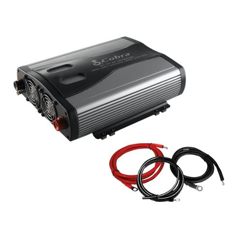 Cobra CPI1575 1500 Watt 3 Outlets DC To AC Car Power Inverter w/ Cable Kit