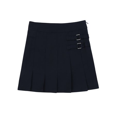 Girls School Uniform Pleated Scooter Skirt with Sew in (Sew Twirl Skirt)