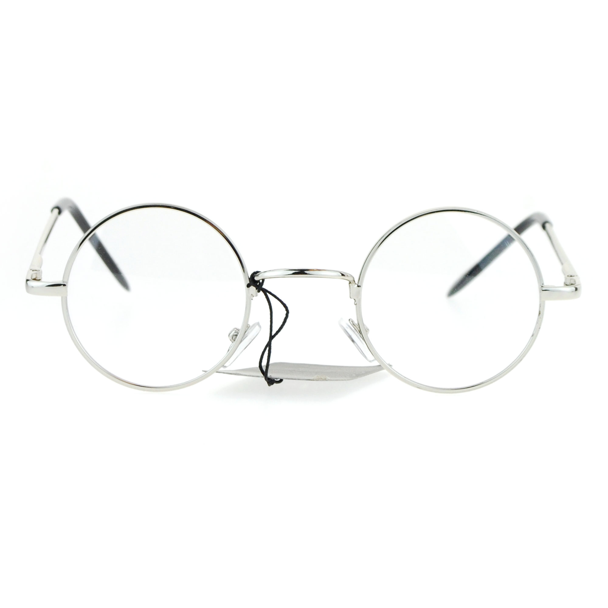 Snug Small Retro Vintage Hippie Round Circle Lens Eye Glasses Silver - Walmart.com | Tuggl