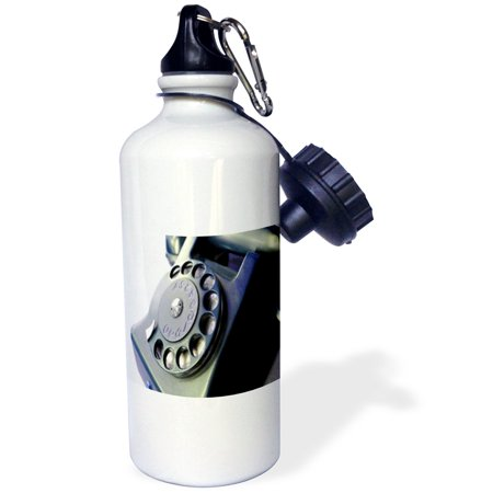3dRose Inverted Rotary Telephone, Sports Water Bottle, 21oz