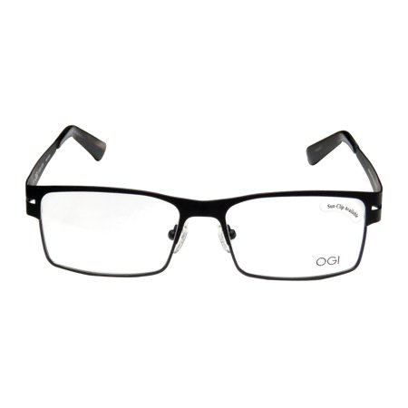 4173a73fb6 Ogi 4505 54-16-145 Black Full-Rim Eyeglasses Frame - Walmart.com