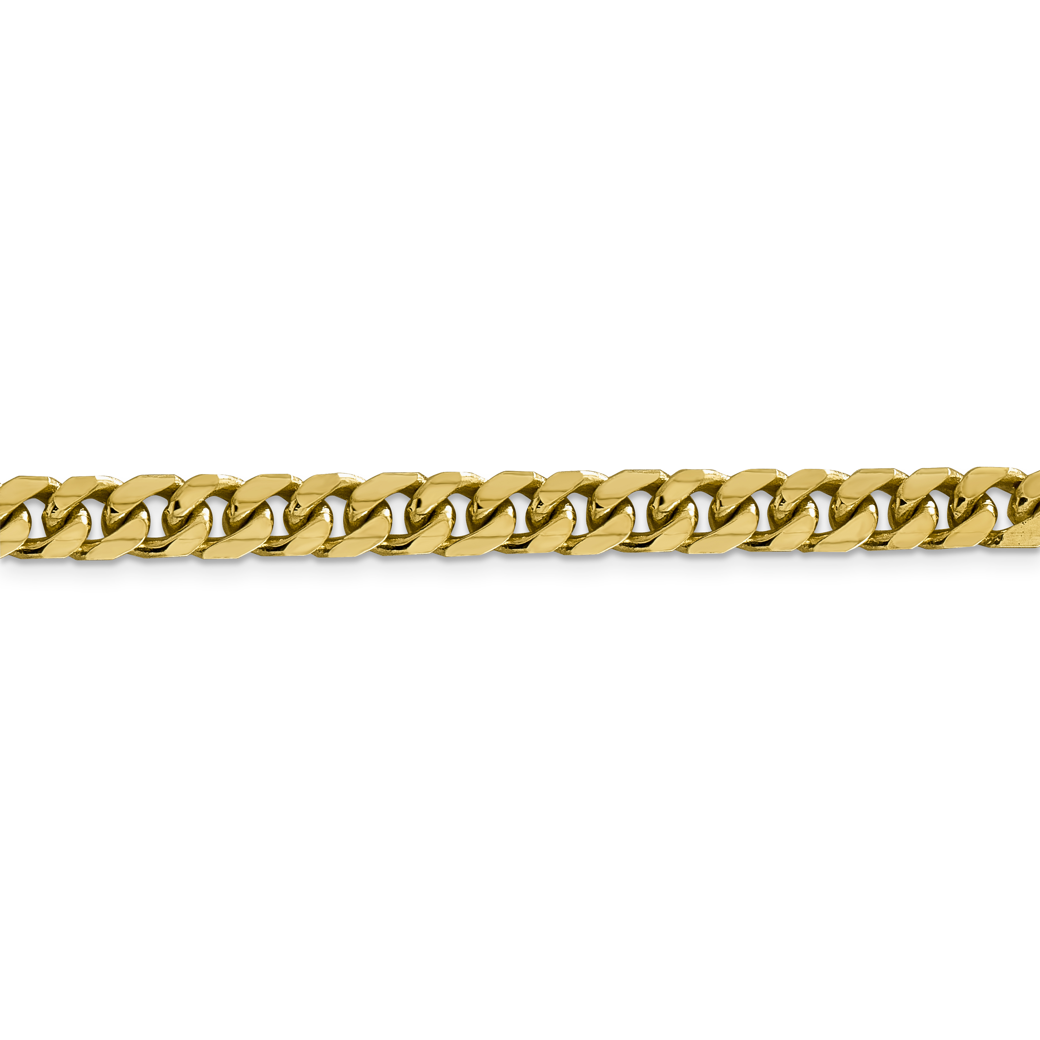 14k Yellow Gold 6.25mm Solid Miami Cuban Bracelet Chain 8 Inch Necklace Pendant Charm Curb Domed Fine Jewelry Gifts For Women For Her - image 1 de 4