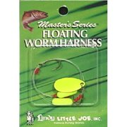 Little Joe Floating Worm Harness Fishing Lure Harness Hot Yellow Blade Hot Yellow Float 36 inch length Snell