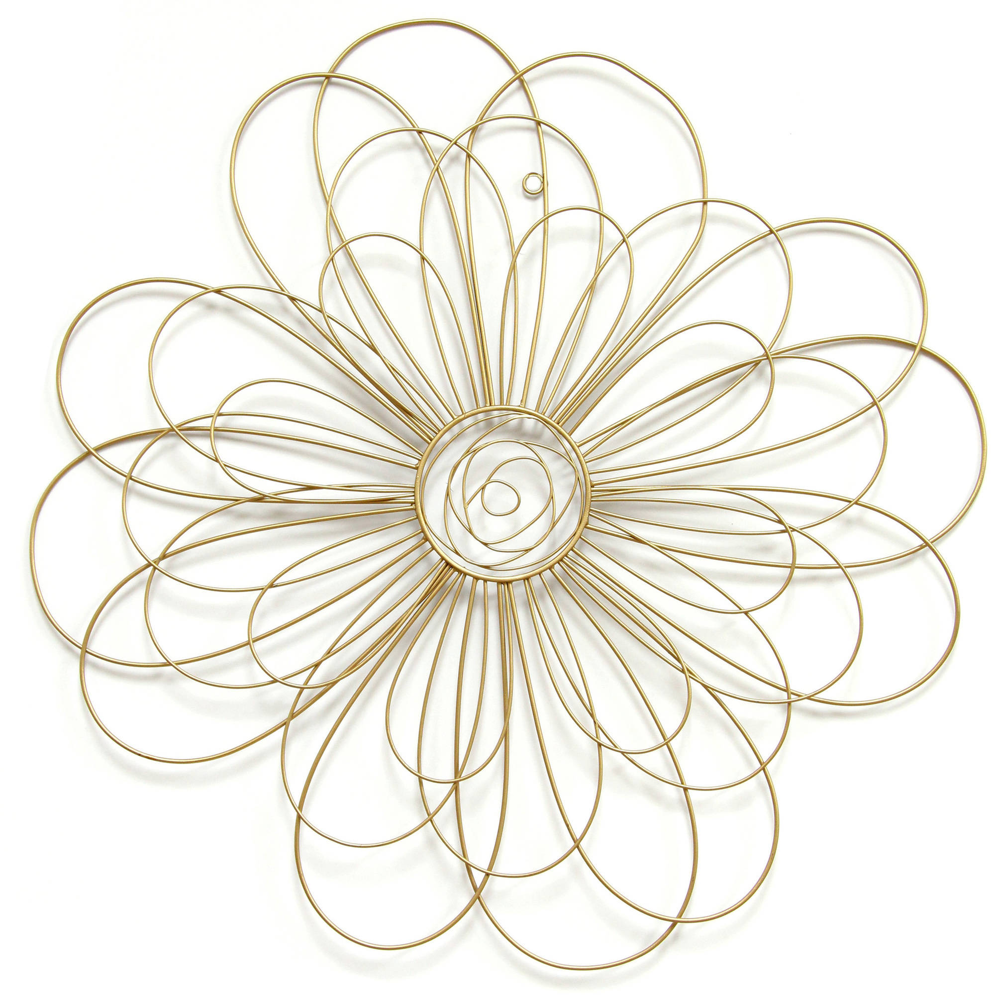 Stratton Home Gold Wire Flower Wall Decor by Stratton Home Decor