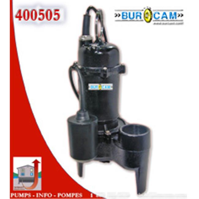 Bur-Cam Pumps 400504 .4 HP Submersible Sewage Pump