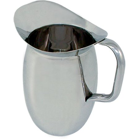 3 Quart Bell (96 oz (3 quart) Stainless Steel Bell Pitcher w/ Ice Guard )