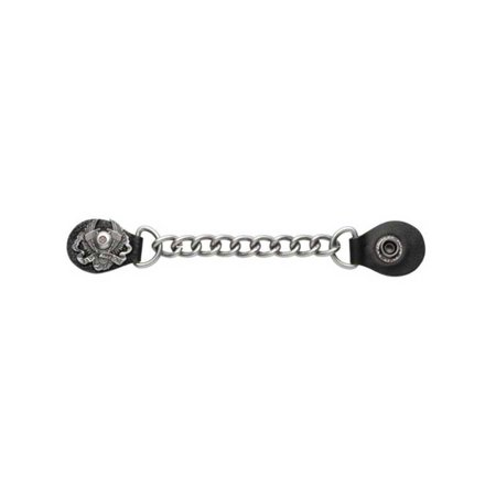 Double Chain Vest Extender (Men's Bad To The Bone Winged V-Twin  Chain Vest Extender, Antique Metal 08615)