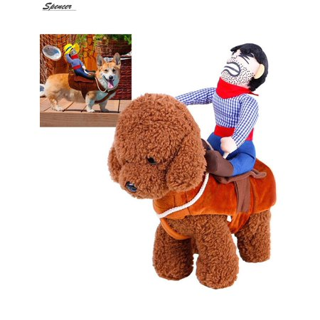 Horse And Rider Costumes (Spencer Cowboy Rider Horse Riding Novelty Pet Dog Costume Christmas Dress up Decor for Cat Dog Puppy
