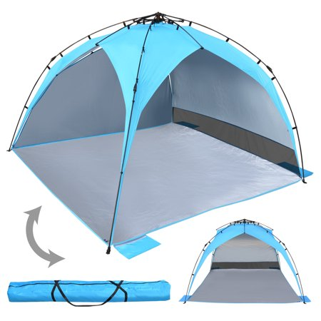 new styles 279f2 7e50b Sunrise Portable Pop Up Beach Tent Sun Shade Shelter, Outdoor, Camping, 2-3  Person, Blue