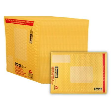 """Scotch Smart Plastic Bubble Mailers, 4"""" x 7"""", 25 Pack"""