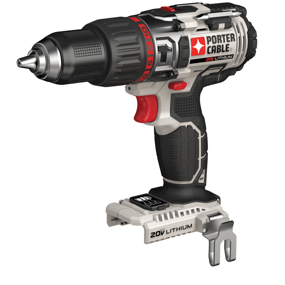 PORTER CABLE 20-Volt Max 1/2-Inch Lithium-Ion Cordless Hammmer Drill (Bare Tool), PCC620B
